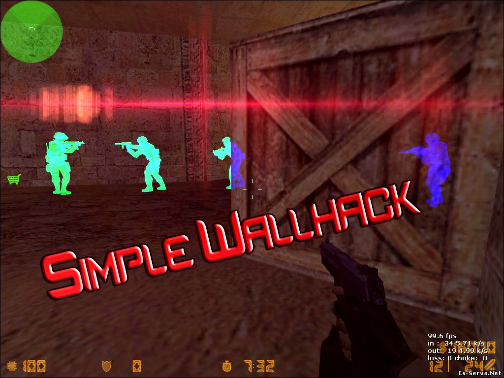 Новый чит Simple Wallhack 2014 для CS 1.6